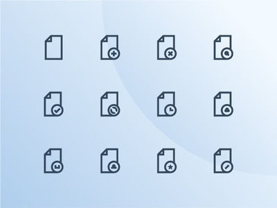 Document Icons document vector ui outline icon set iconography icon