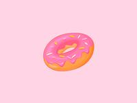 Vector Strawberry Donut Icon