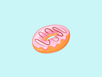 Vector Vanilla Donut Icon