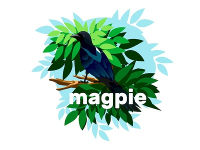 magpie leaves vector ai adobe illustrator birds bird magpie