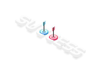 Success dartboard minimalist minimal strategy achievement concept victory winner success target business logo flat icon ui design vector illustration