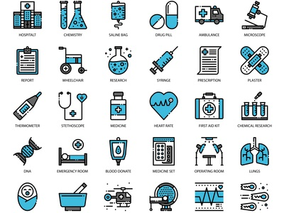 hospital fill outline icon