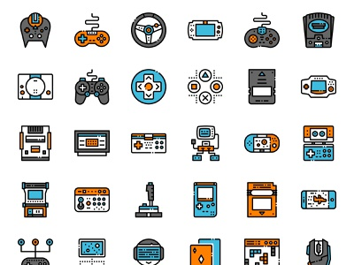 Game console console joystick game gadget technology digital ui design illustration vector pixelperfect icon