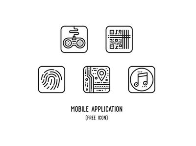 Mobile application (Free icon)