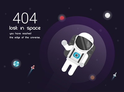 404  Error page (outer space)
