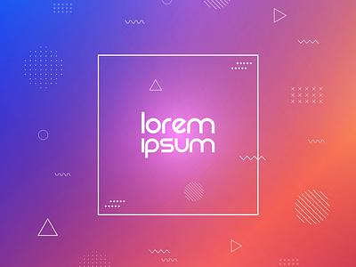 Colorful memphis background pattern lorem ipsum minimal memphis background design vector illustration