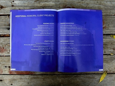 30 Page Proposal print design magazine brochure engineering