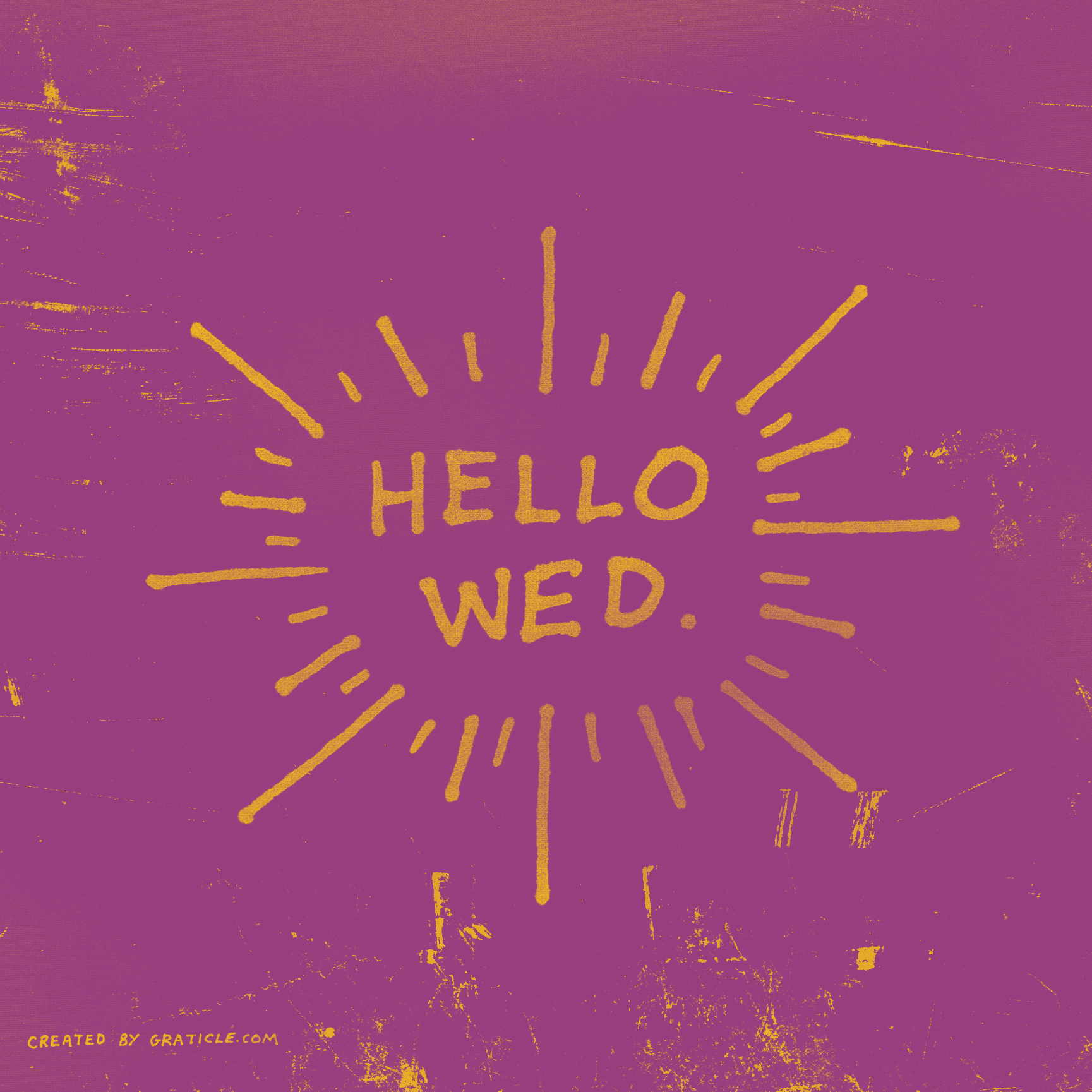 Hello wednesday by graticle design