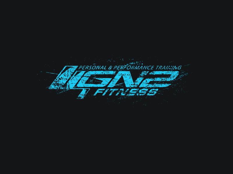 GN2 Fitness gym tshirt shirt neon grunge distress texture design fitness