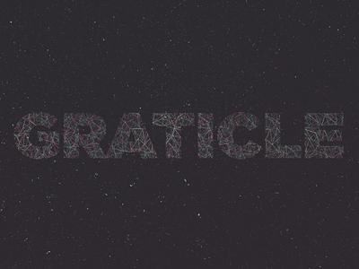 Constellation typography stars space sky neon gotham type