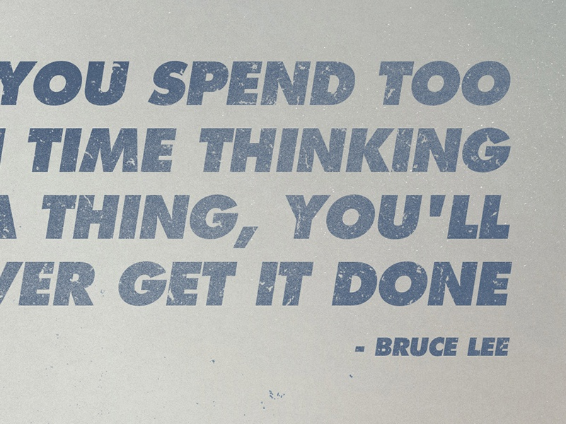 Bruce lee quote   graticle design