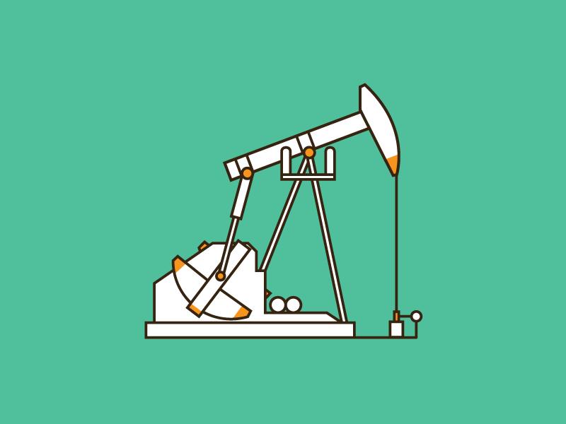 The Land of Oil california taft cartoon illustration sticker art line vector gas icon oil