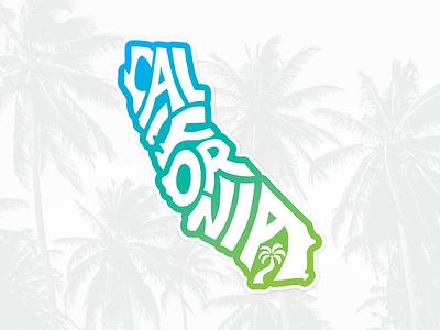 California sticker lettering typography skate surfing surf outdoors sun beach summer ca california