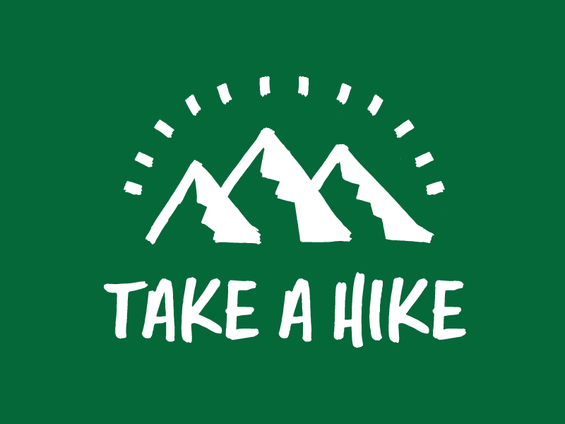 Take A Hike stickermule design type font handwriting lettering sticker mountain outdoors backpacking hiking hike