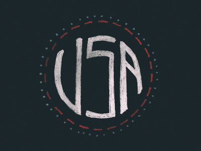 GO USA grunge distress illustration identity branding lettering olympics usa
