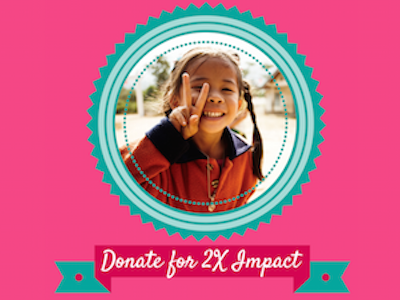 2X your Donation Impact Today! debbiediscoverspop pencilsofpromise