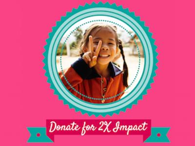 2X your Donation Impact Today! debbiediscoverspop pencilsofpromise