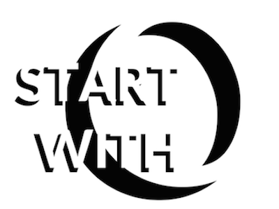 Start with Zero shadows 3d shapes quote white space