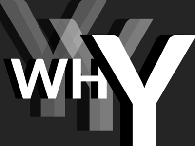 Why white space 3d typography transparency