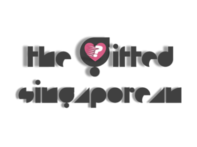Logo Design: The Gifted Singaporean (Black) typography logo