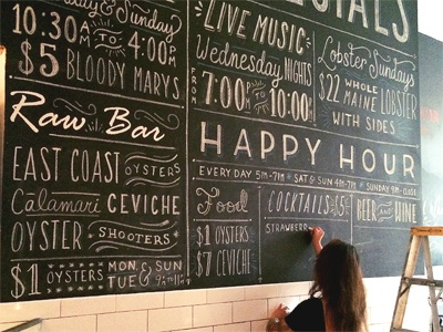 Will Letter For Lunch  typography lettering hand lettering design restaurant food brooklyn chalk chalk lettering