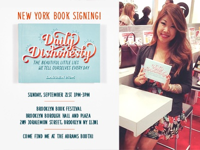 Brooklyn Book Festival! typography daily dishonesty lettering hand lettering brooklyn book signing events