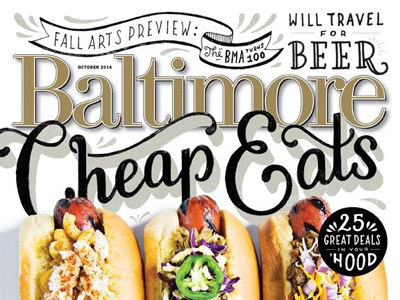 Baltimore Magazine Cheap Eats typography lettering hand lettering illustration magazine editorial food baltimore type