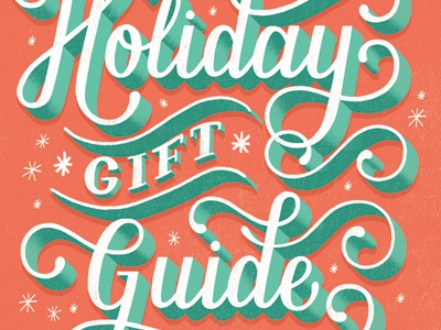TIME Magazine Holiday Gift Guide type typography lettering hand lettering flourish editorial time illustration magazine holiday