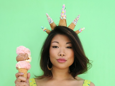 Flour Crown No. 3 ice cream fashion colorful pastel graphic design side project flower crown puns food food art