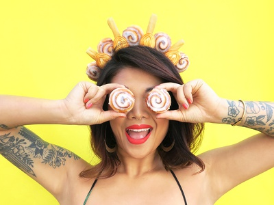 Flour Crown No. 4 dessert bakery fashion colorful pastel graphic design side project flower crown puns food food art