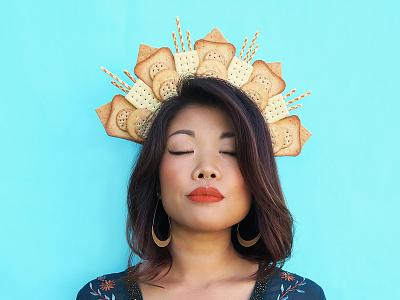 Flour Crown No. 5 fashion colorful pastel graphic design side project flower crown puns food food art