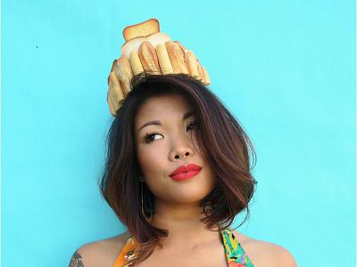 Flour Crown #27 - Baguettes, Toast, Bread! passion project bread baking pastel photography food art flour crowns