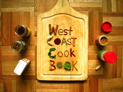 West Coast Cook Book cook book spices wooden typography natural handmade type treatment