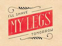 Shaving legs color