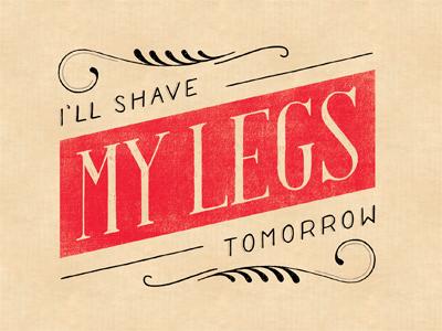 Shaving legs color sm