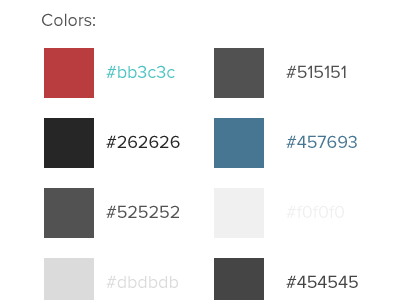 Codetunes.com UI Kit ui kit ui kit proxima nova adelle colors palette buttons menu hover links