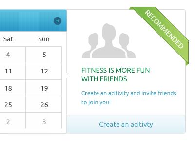 Calendar, events and activity