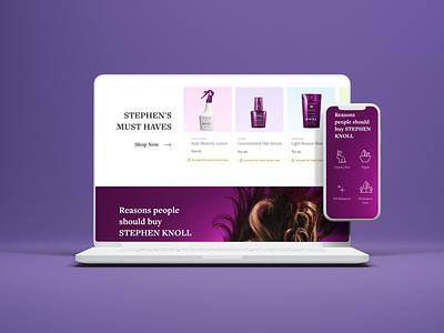 Website for Stephen Knoll prototype e-commerce business designer web ux design ui branding webdesign