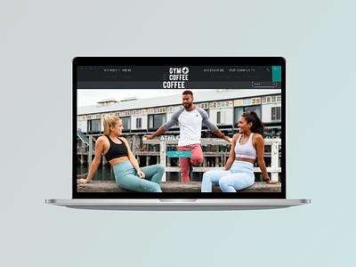 Website for Gym + Coffee graphic design premium vector illustration web designer ux ui design webdesign branding