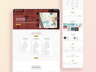 Website for My Hero Graphic graphic design premium vector illustration web designer ux ui design webdesign branding
