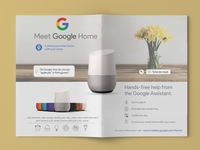google home flyer design