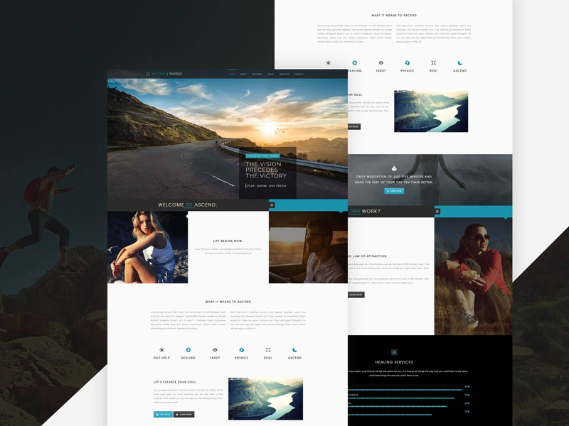 User Interface Design - Custom WordPress Theme theme design wordpress design conceptual design branding modern ui design
