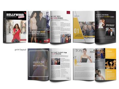 Marketing Proposal Print Layout Design