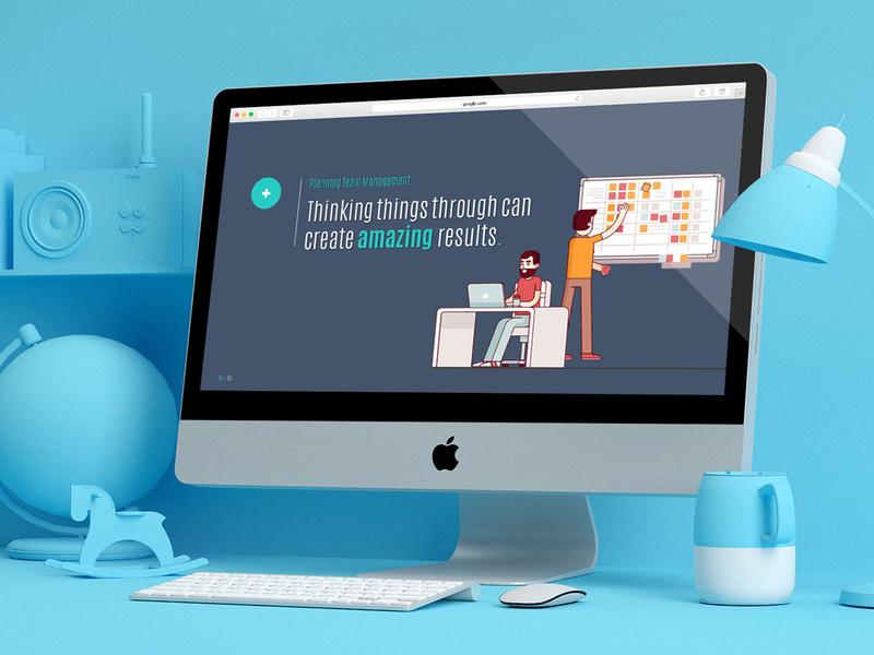 Illustrated PowerPoint Slides illustration powerpoint template powerpoint