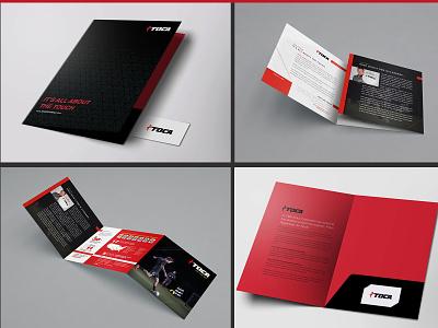 Corporate Folder and Tri-Fold Design print design brochure corporate folder trifold brochure brochure design print designer branding