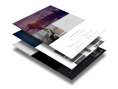 Stacked Display of Web Page Elements wordpress design wordpress theme web designer modern elegant one page design one page site landing page design web design website