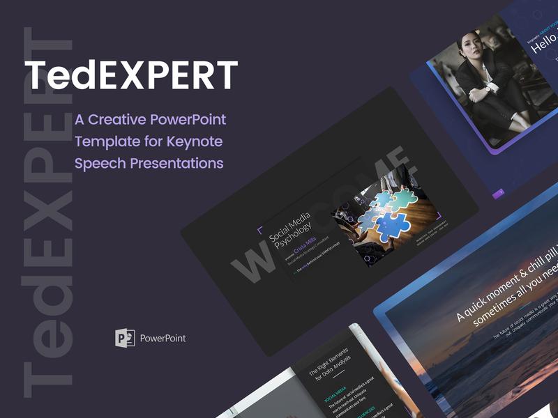 TedExpert – a Keynote Speaker PowerPoint Presentation speaker presentation keynote speech powerpoint template powerpoint presentation