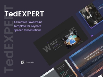 TedExpert – a Keynote Speaker PowerPoint Presentation speaker presentation keynote speech powerpoint template powerpoint presentation