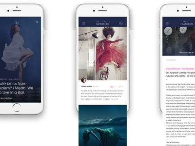 Luxe Fashion Blog, Mobile UI Design mobile layout responsive design mobile design luxury design luxe luxury mobile blog blog design ui  ux design ui designer ui design