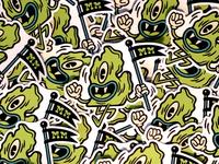 Mitten Monster Stickers
